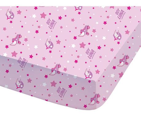 Долен чаршаф с ластик Disney Soy Luna Roller 90x190 см