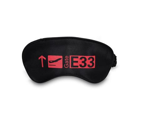 Masca pentru dormit Gate Black and Red