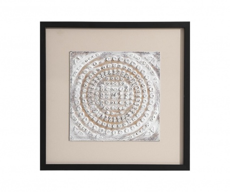 Obraz White Square Sphere 50x50 cm