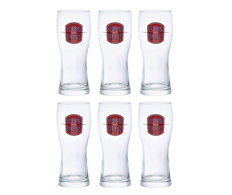 Set 6 kozarcev za pivo Prague Fresh Red 330 ml