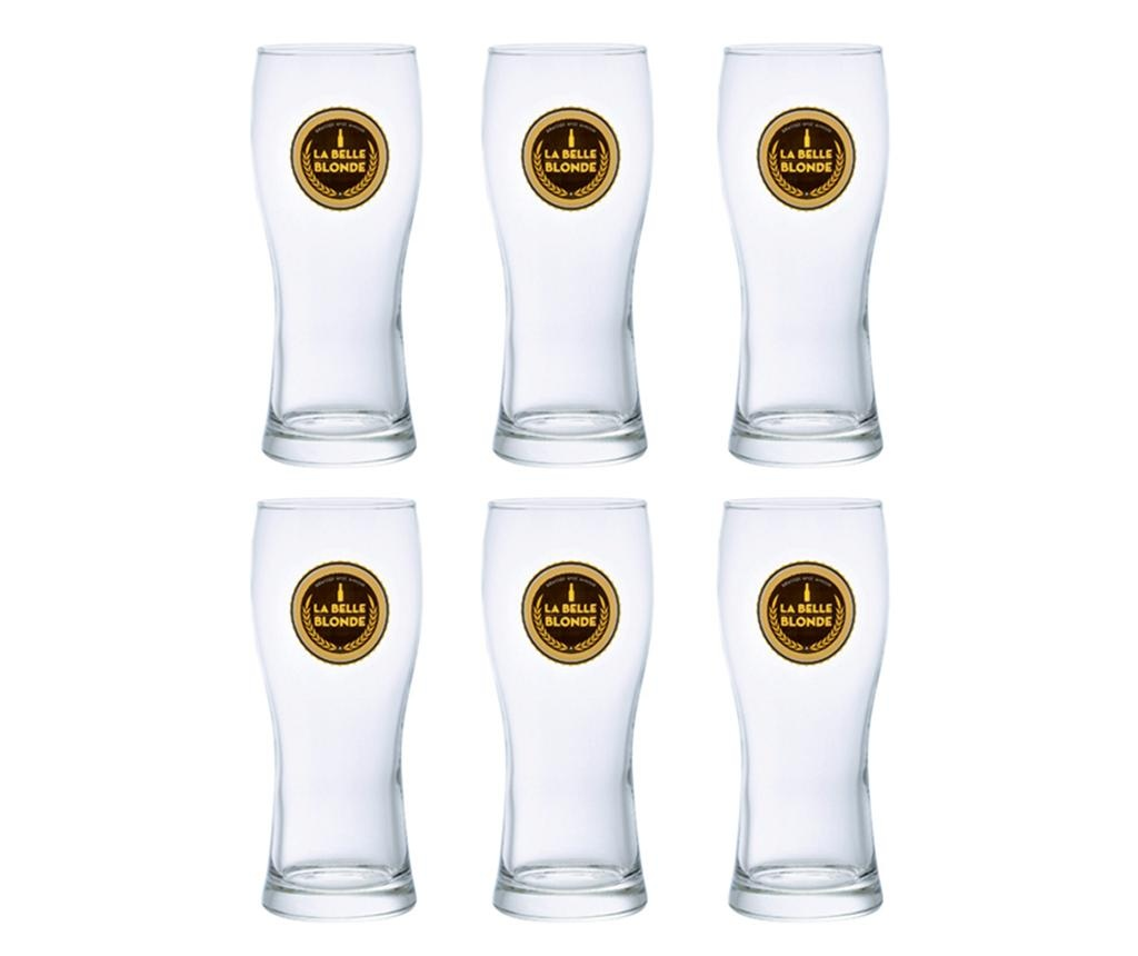 Set 6 kozarcev za pivo La Belle 280 ml