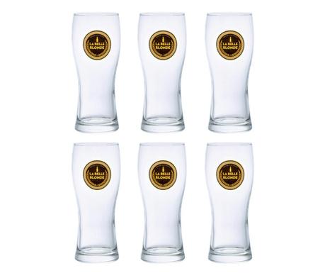 Set 6 kozarcev za pivo La Belle 280 ml