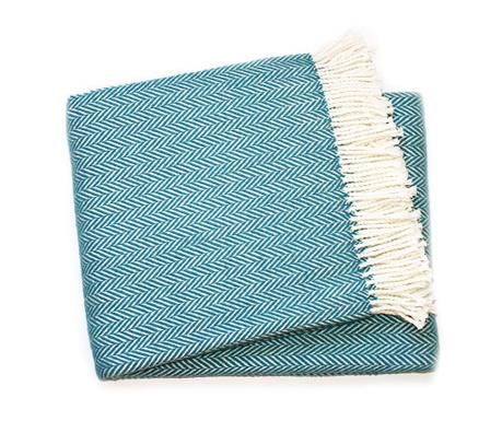 Priročna odeja Skyline Ocean Blue 140x180 cm