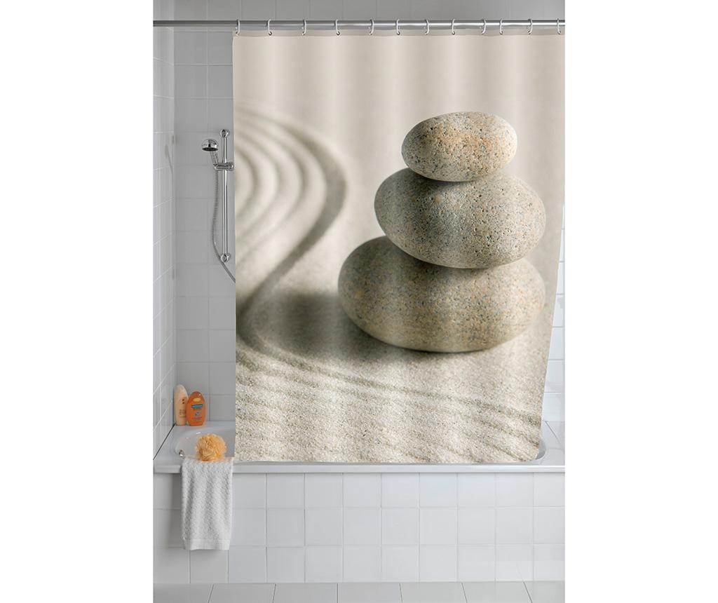 Zavesa za prho Sand and Stones 180x200 cm