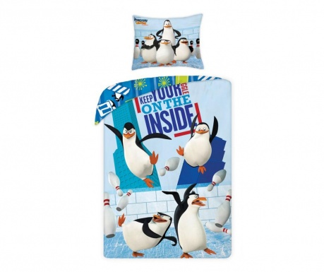 Posteľná sada Single Ranforce The Penguins of Madagascar