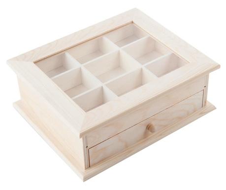 Pudełko z pokrywką na herbatę DIY Cassy