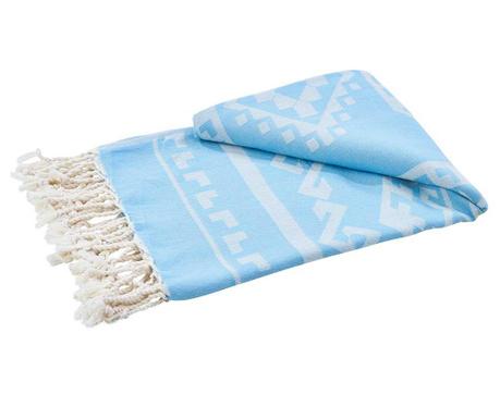 Πετσέτα μπάνιου Caya Stuff Light Blue 90x180 cm