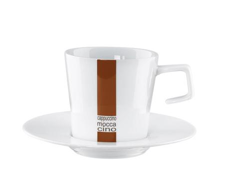Ceasca si farfurioara Stripe Cappuccino