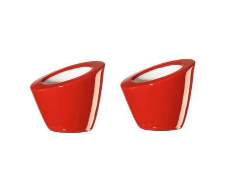 Set 2 suporturi pentru ou fiert Pollo Red