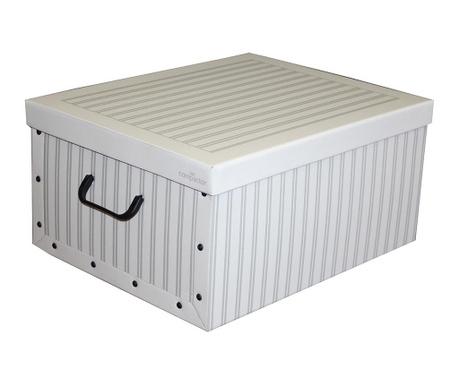 Shranjevalna škatla s pokrovom Stripes Mono