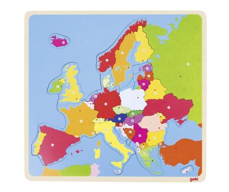 Puzzle din lemn 36 piese Europe