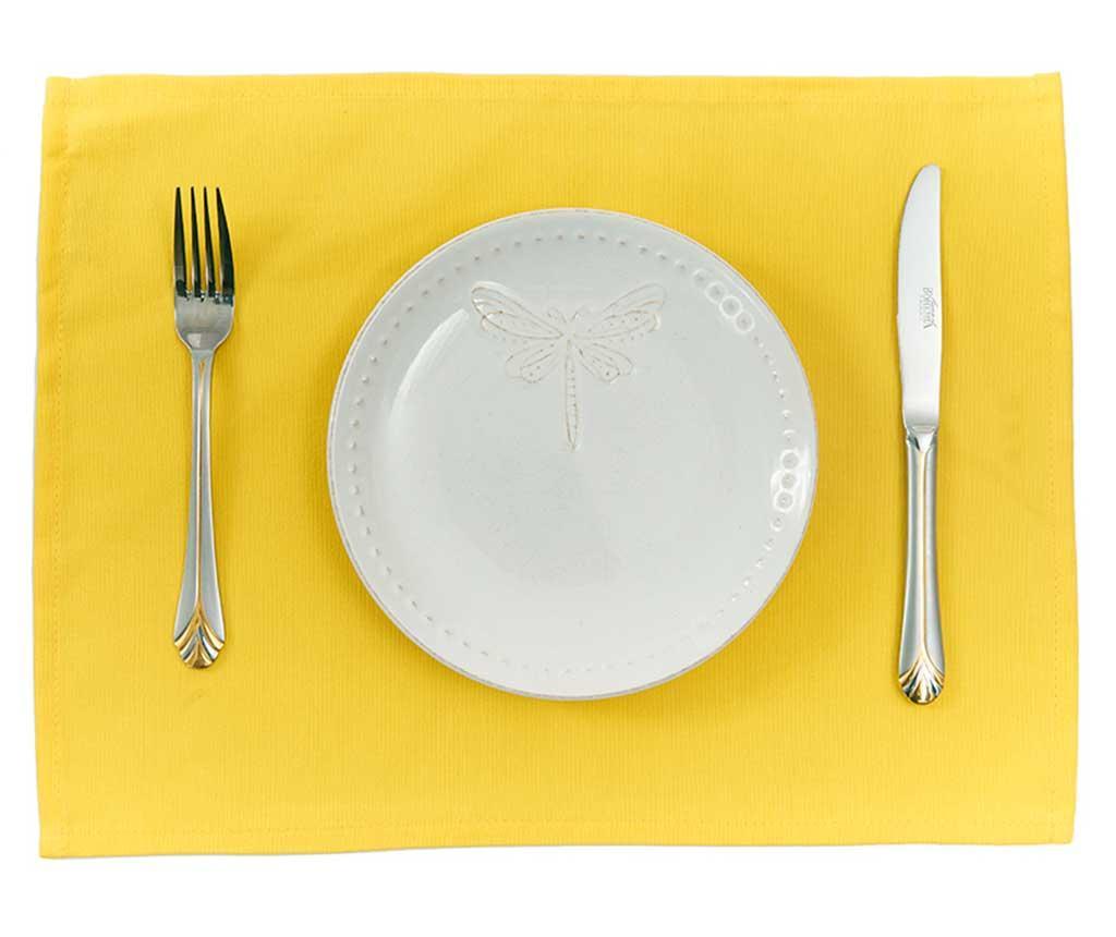 Set 2 suporturi farfurii Plane Yellow 33x45 cm
