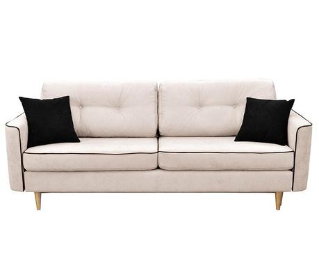 Canapea extensibila 3 locuri Ivy  Cream And Black