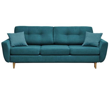 Canapea extensibila 3 locuri Rosa  Turquoise