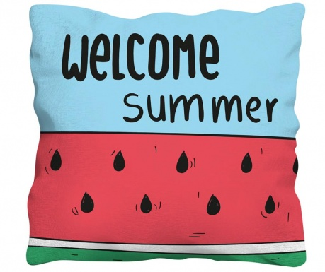 Perna decorativa Welcome Summer 43x43 cm