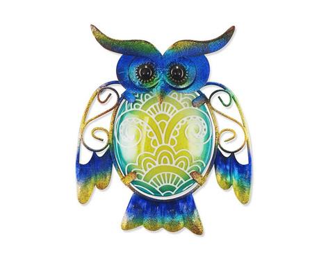 Dekoracja ścienna Flowers on Owl Blue