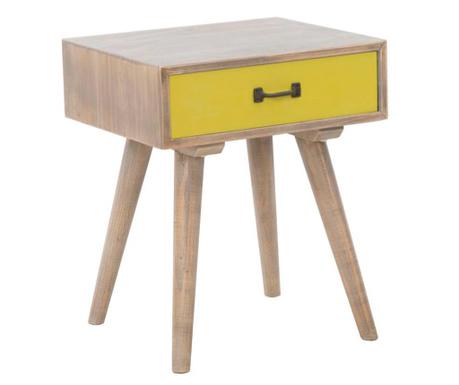 Stolik z 1 szufladą Ibiza Yellow