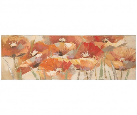 Obraz Red Poppies 50x150 cm