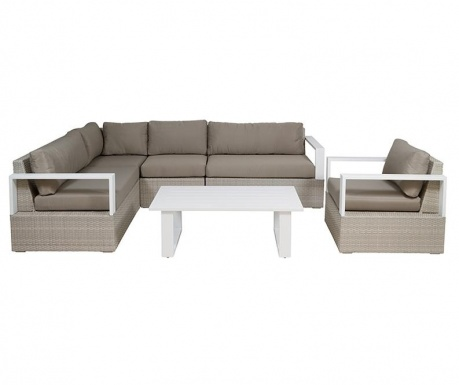 Set of 3 outdoor furniture pieces Marie