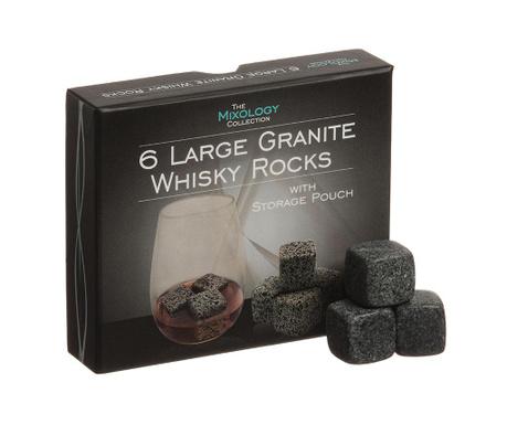 Zestaw 6 granitowych kostek do whiskey Scotch