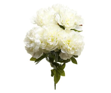 Umělá květina Poeny White