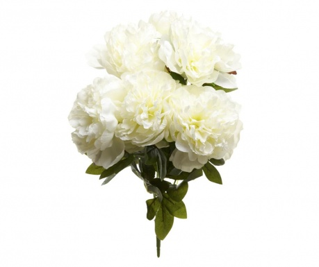 Floare artificiala Poeny White