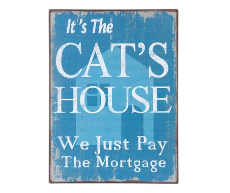 Nástenná dekorácia Cat's House