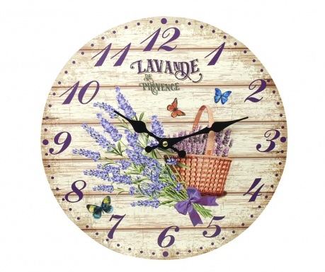 Wall clock Lavender Bouquet