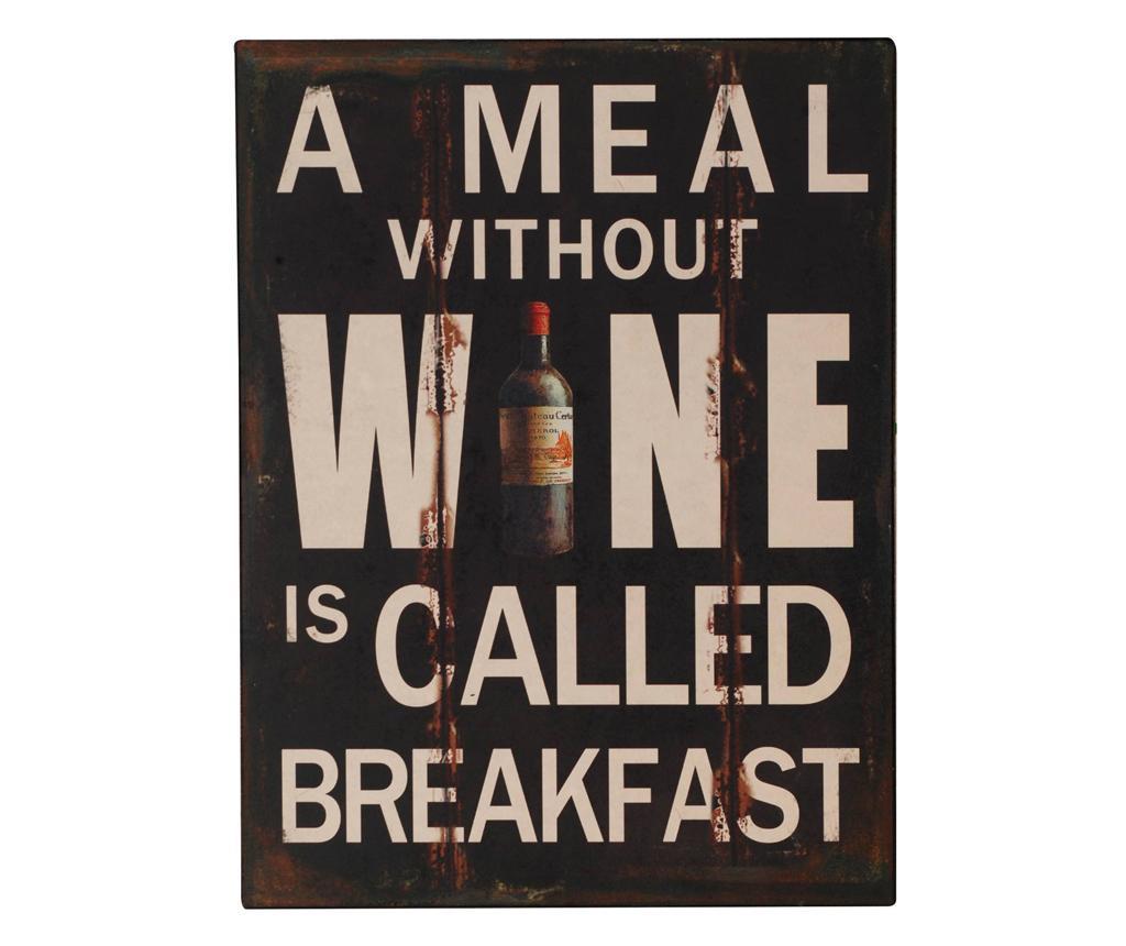 Decoratiune de perete Wine for Breakfast