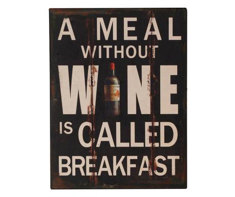 Nástenná dekorácia Wine for Breakfast
