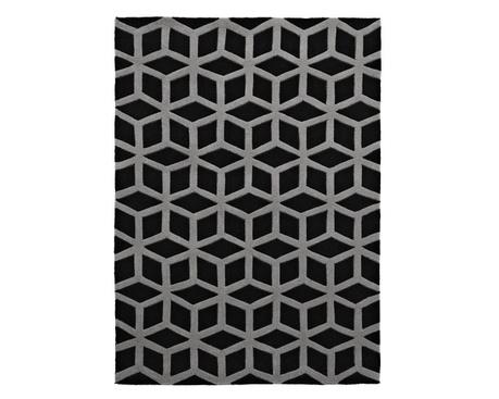 Koberec Hong Kong Black Grey 80x150 cm