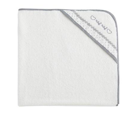 Ręcznik kąpielowy z kapturem Heart 100x100 cm