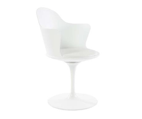 Rotating chair Granada White Arms