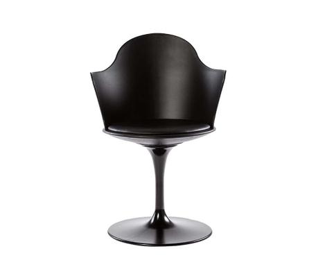 Otočná židle Granada Black Arms