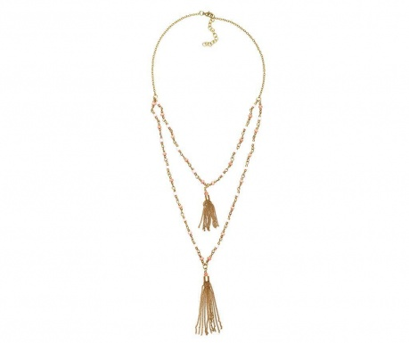 Necklace Golden Pink