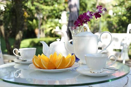 Občerstvenie v záhrade