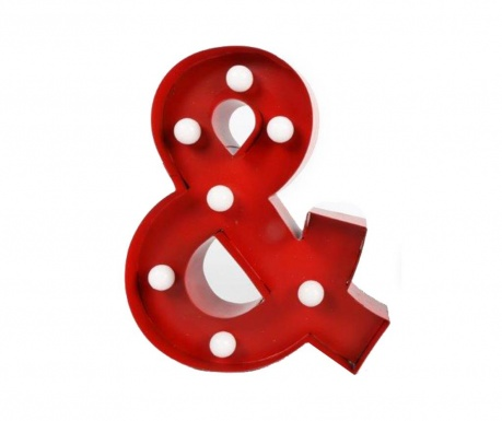 Lighting decoration Ampersand David Red
