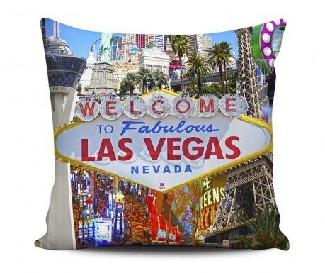 Decorative cushion Welcome Las Vegas 43x43 cm