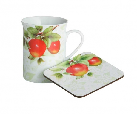 Set of mug and coaster Orchard Fruit 255 ml