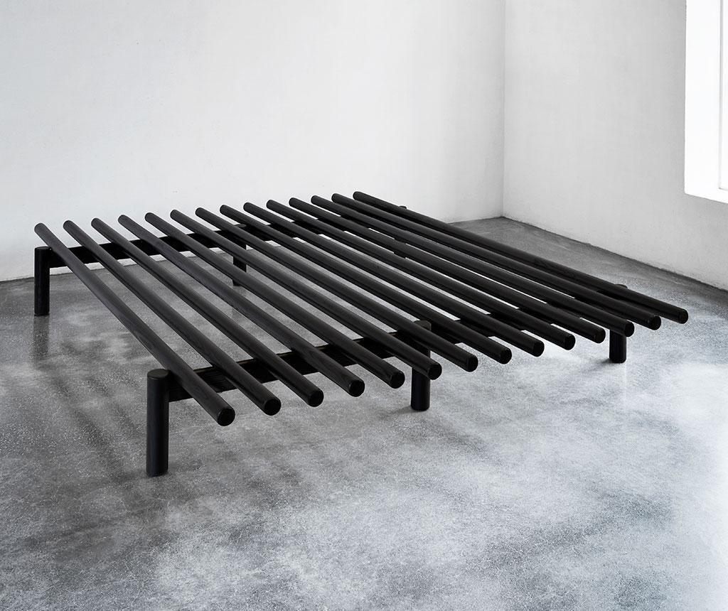 Okvir za krevet Pace Black 140x200 cm