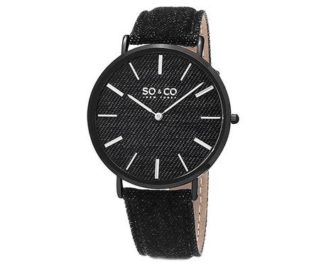 Ρολόι χειρός unisex So&Co SoHo Denim Black