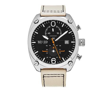 Ανδρικό ρολόι χειρός So&Co Monticello Ivory Silver