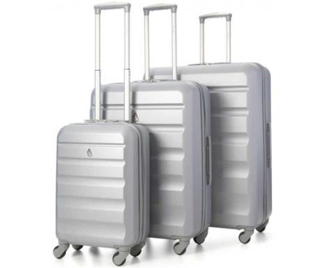 Zestaw 3 walizek na kółkach Adelaide Silver