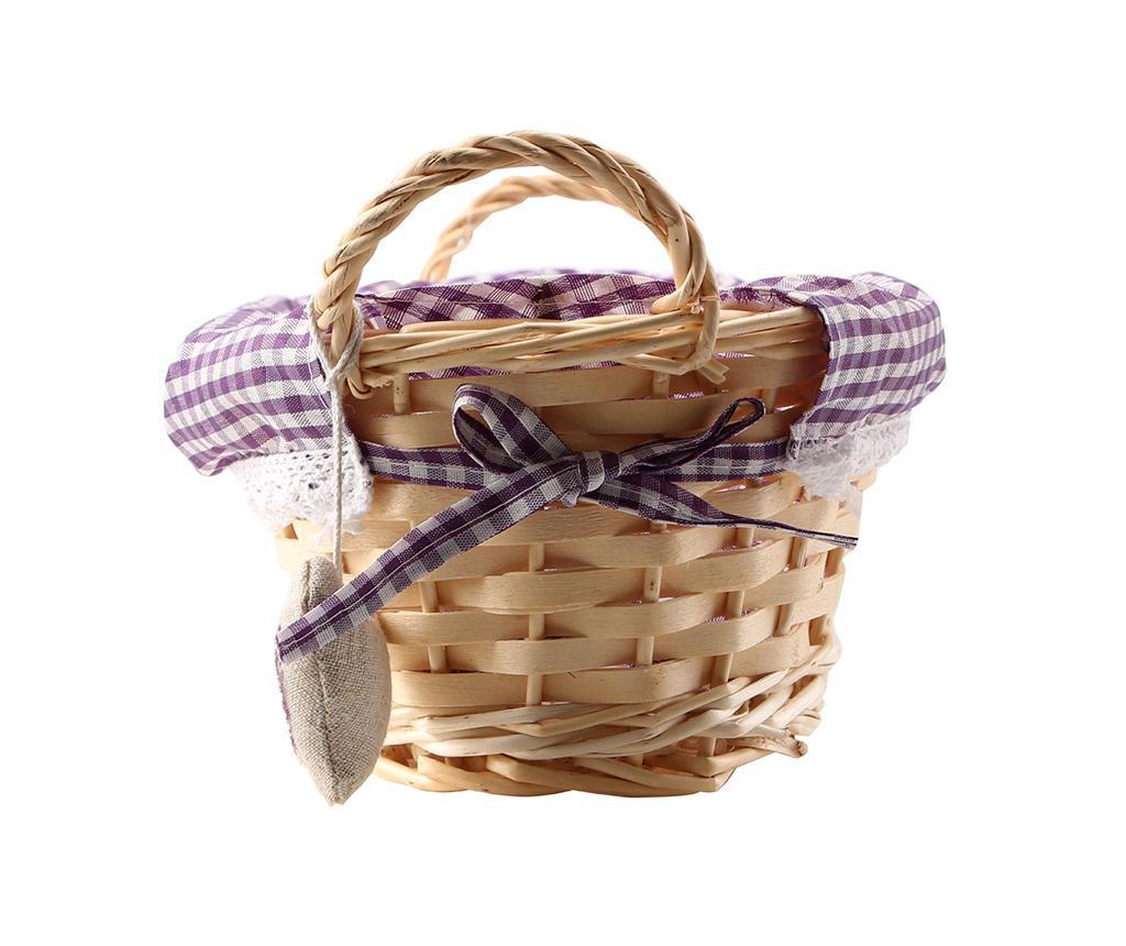 Košara za kruh Gingham Oblong Purple