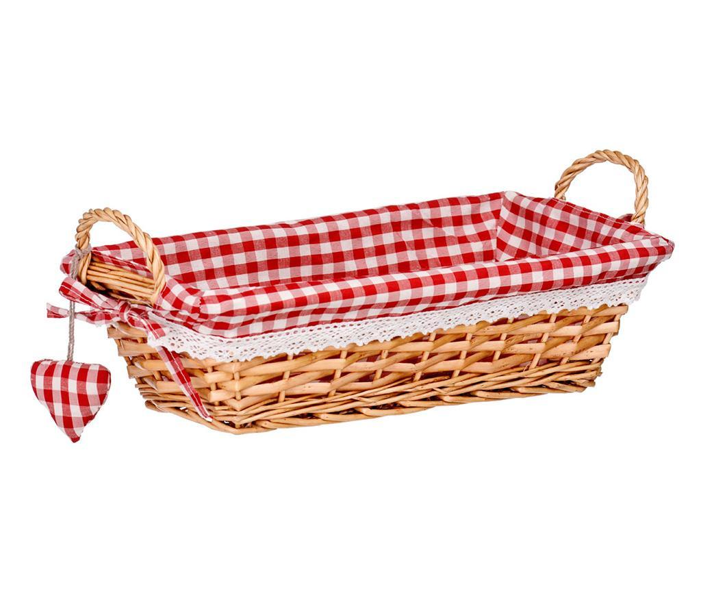 Cos pentru paine Gingham Rectangular Red M