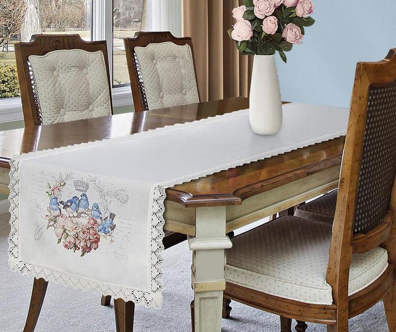 Sally Blue Birds Asztali futó 40x140 cm