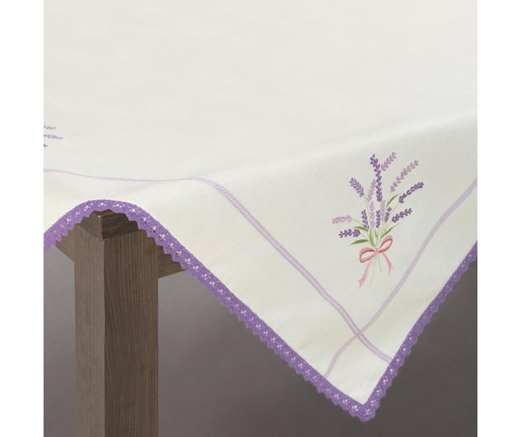 Fata de masa Sadie Cream Purple 85x85 cm