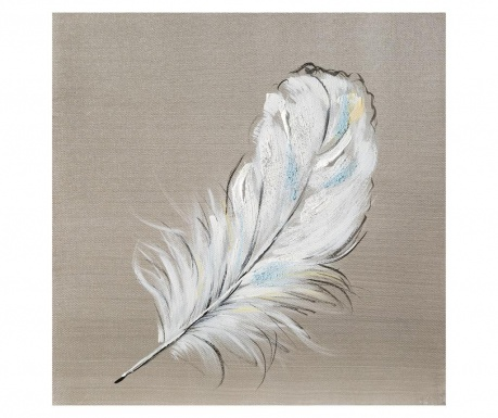 White Feather Festmény 30x30 cm