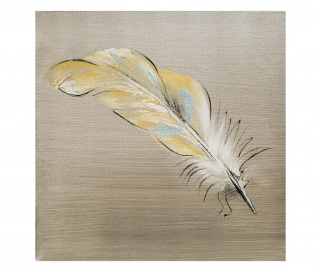 Tablou Yellow Feather 30x30 cm