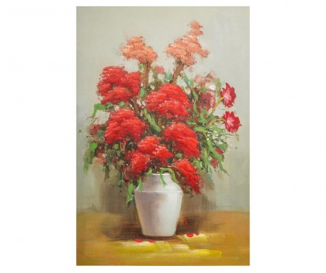 Tablou Red Flowers in Vase 60x90 cm